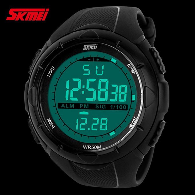 18 New Skmei Brand Men LED Digital Military Watch, 50M Dive Swim Dress Sports Watches Fashion Outdoor Wristwatches 15