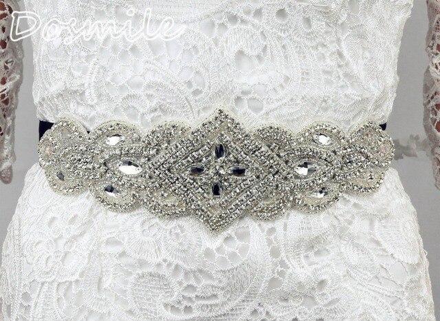 New Fashion elegant clear crystal Bridal belt Wedding formal Dress black ribbon belt Beading Sashes clothes accessories