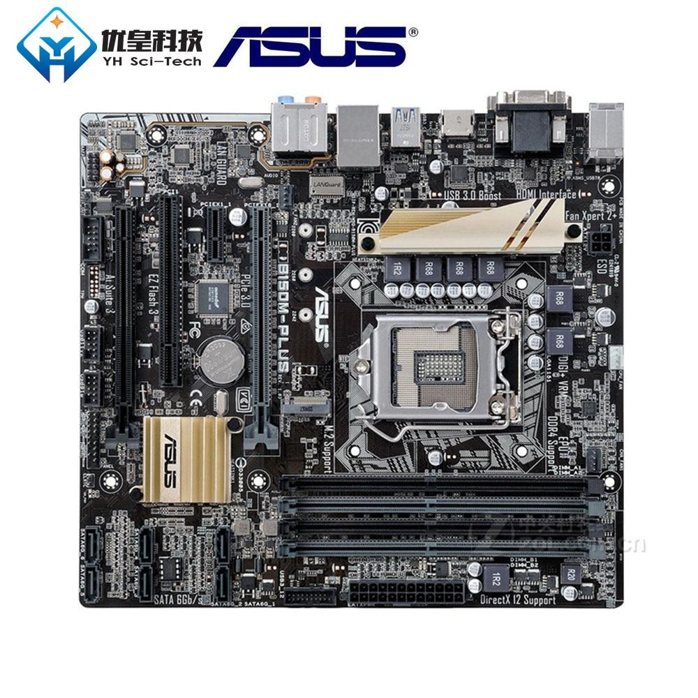 Original Used Desktop Motherboard Asus Intel B150 Asus B150M-V PLUS  LGA 1151 Core I7/i5/i3/Pentium/Celeron DDR4 32G Micro ATX