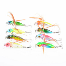 8Pcs/Lot 4.5cm/3.4g Fly Fishing Lures Insects Artificial Hard Baits Wobblers Crank Bass Bait For Dry Tackle