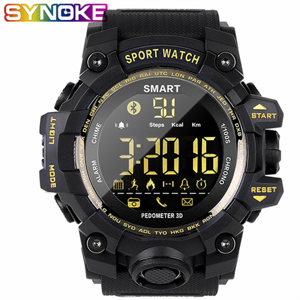 SYNOKE Sport Smart Watch Men Blood Pressure Waterproof Activity Fitness Tracker Heart Rate Monitor Smartwatch Android IOS