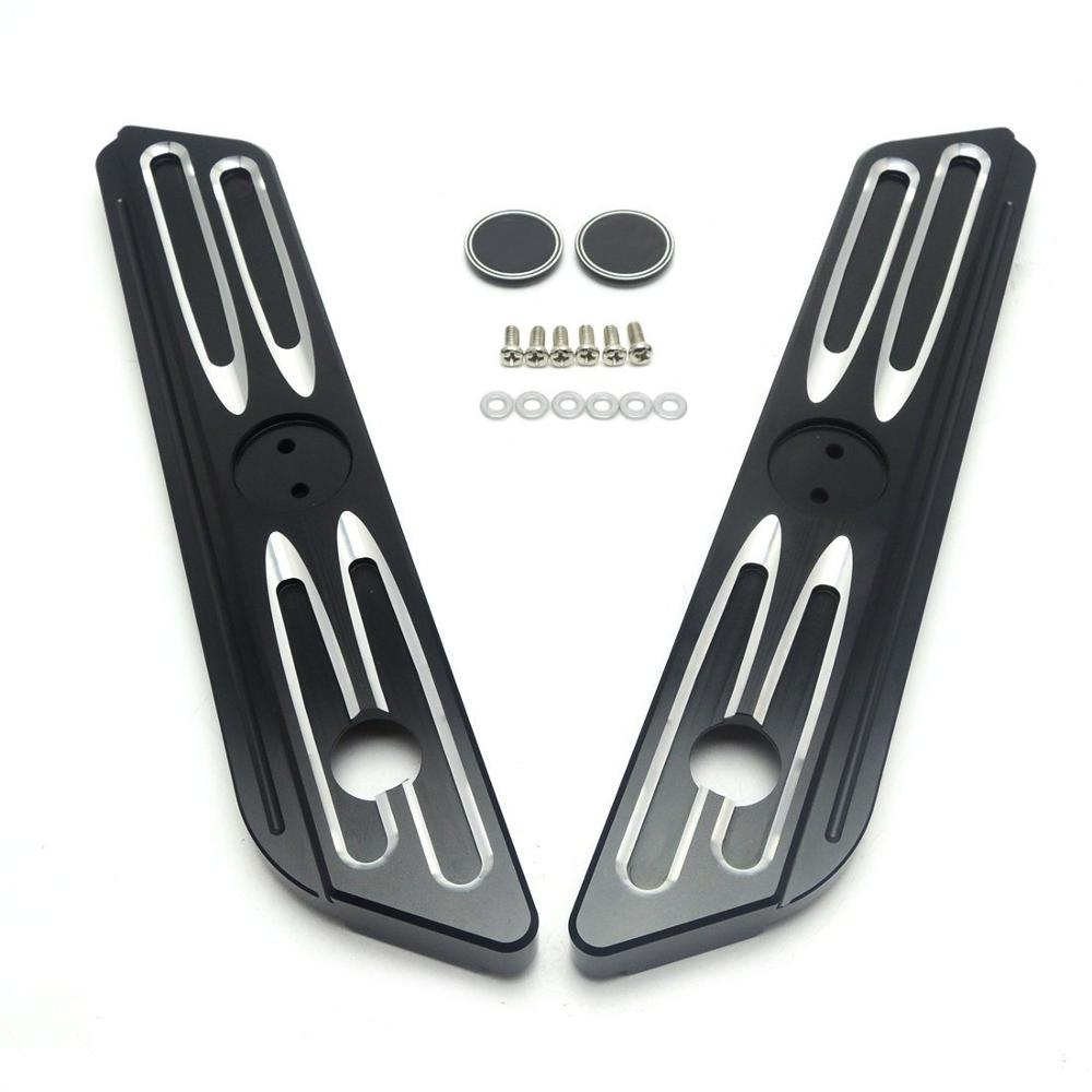 Burst Drive Contrast Cut Saddlebag Latch Covers For Harley Street Glide Road King 2014-2016 Parts billet saddlebag latch covers w screws for harley electra street tour glide classic fltc road king hard bags 93 13