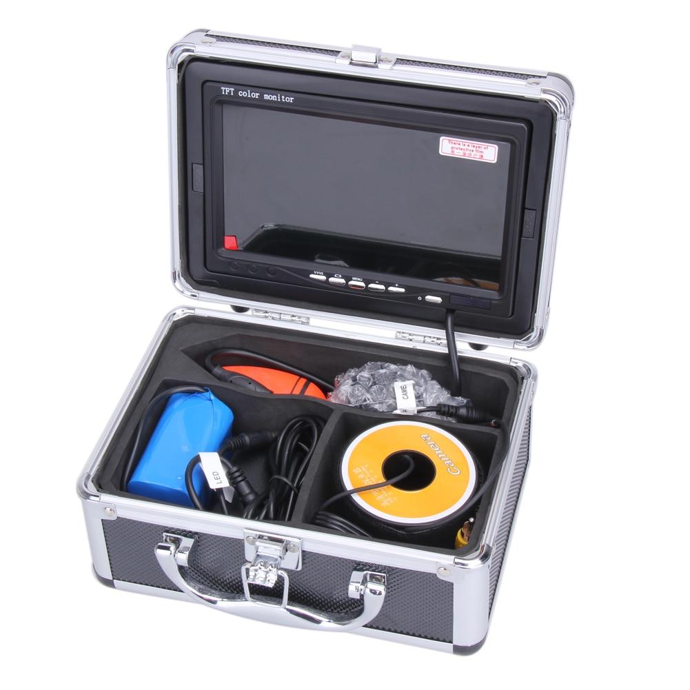 EU Plug 30M 7 Digital HD Professional Fish Finder Underwater Waterproof Fishing Video Monitor Camera Fishing Accessories pesca 30m video