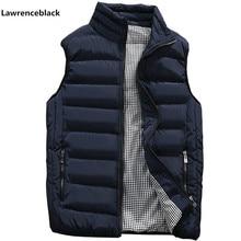 9ee8678498 Mężczyzna kurtka kamizelka bez rękawów zima moda na co dzień Slim płaszcze  odzież marki bawełny wyściełane kamizelka męska kamiz.