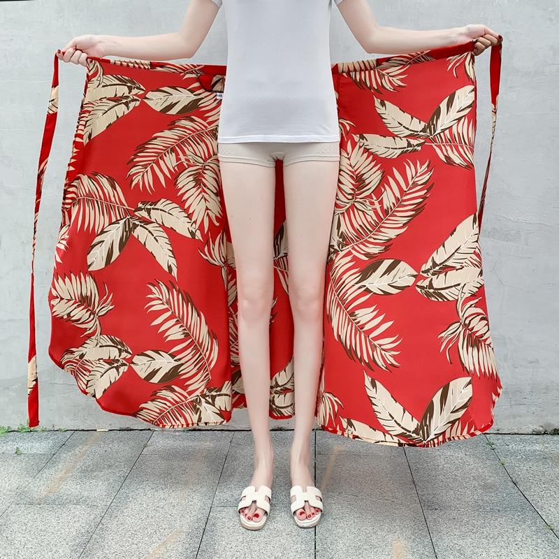 Thai Holiday Half-length Skirt New Seaside Beach Skirt in Spring and Summer of 2019