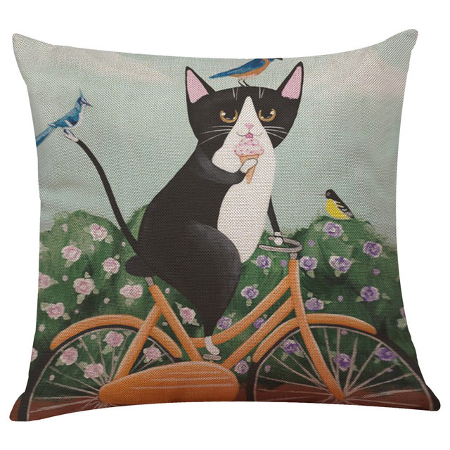 Di Vendita caldo Cuscino Coperture Cute Cat Divano Letto Complementi Arredo Casa