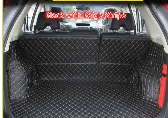 For Honda CRV CR-V 2012 2013 2014 2015 2016  Interior Car Styling  Car Rear Cargo Trunk Mats Pads 5pcs / set interior black rear trunk cargo cover shield 1 pcs for kia sportage 2016 2017