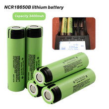 2pcs New Original NCR18650B 3.7 v 3400 mah 18650 Lithium Rechargeable Battery For Flashlight batteries NCR 18650B Li-ion battery