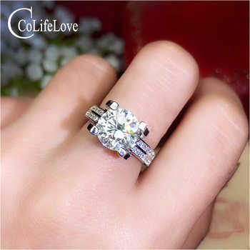 CoLife Jewelry Silver Moissanite Wedding Ring for Woman 2ct 3ct D Color VVS1 Grade Moissanite Ring 925 Silver Engagement Ring - DISCOUNT ITEM  0% OFF All Category