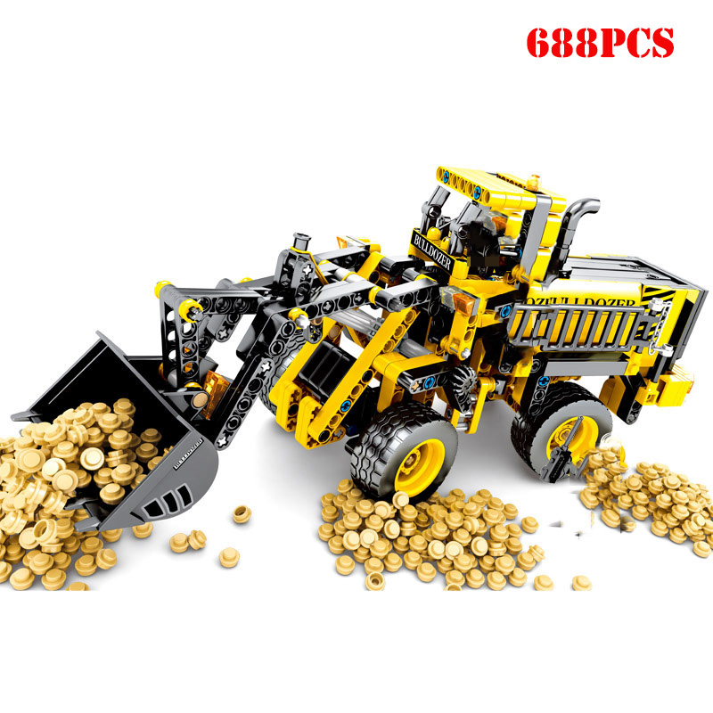 688pcs-Technic-Series-Bulldozer-Truck-Building-Blocks-City-Construction-Engineering-Figures-Enlighten-Bricks-Kids-Birthday-Toys
