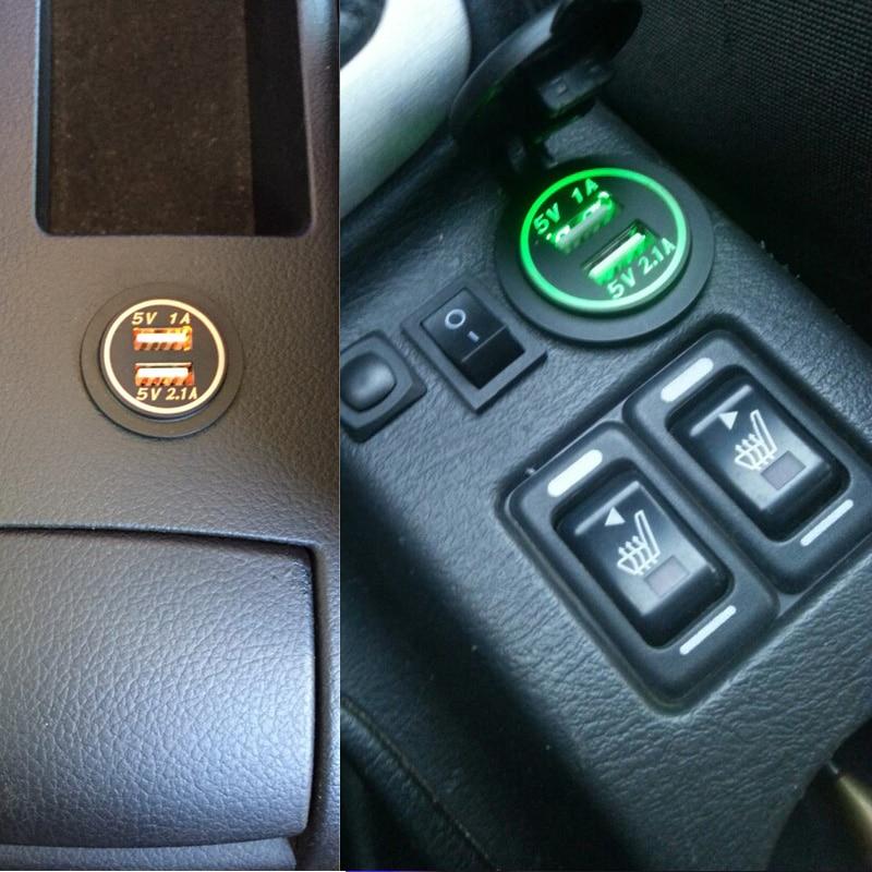 1 PC Universal Charger Mobil Tahan Air Dual Port Auto Adapter 5 V - Aksesori dan suku cadang ponsel - Foto 6