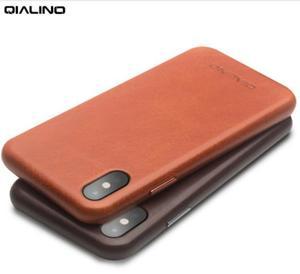Image 4 - QIALINO אמיתי עור טלפון מקרה עבור אפל עבור iPhone X יוקרה עסקי סגנון Ultra דק חזרה כיסוי עבור iPhone XS עבור 5.8 אינץ