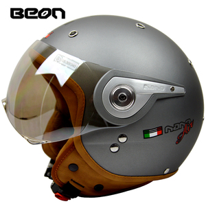 Image 3 - באון בציר מכביש מוטוקרוס Feminino אופנוע חצי קסדת ראש כיסויי ראש קסדה capacete casco רכיבה עבור קסדות