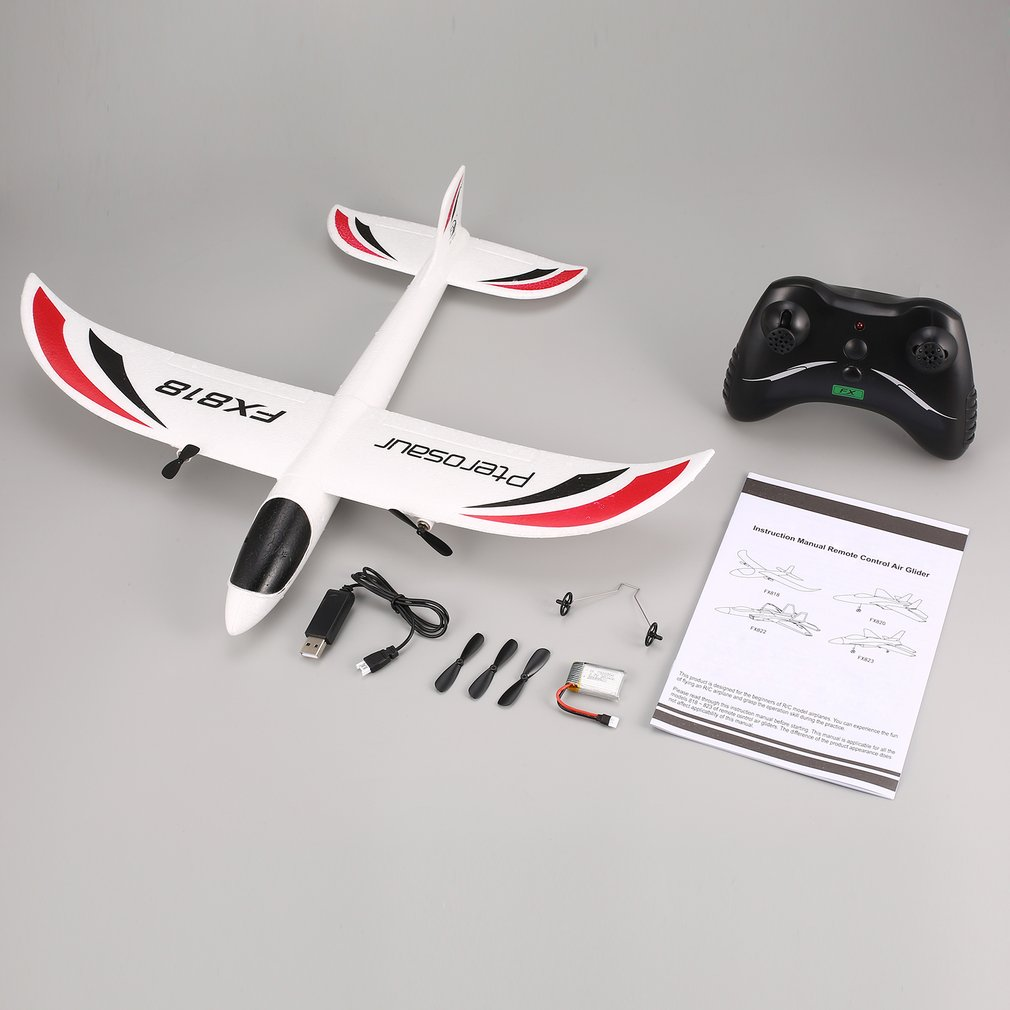 NEW FX FX-818/820 RC Glider 2.4G 2CH Remote Control Glider 475mm Wingspan EPP RC Fixed Wing Airplane Aircraft Drone for Kid Gift eboyu tm volantex rc tw781 cessna 2 4g 2ch rc airplane 200mm wingspan mini epp infrared remote control indoor drone aircraft