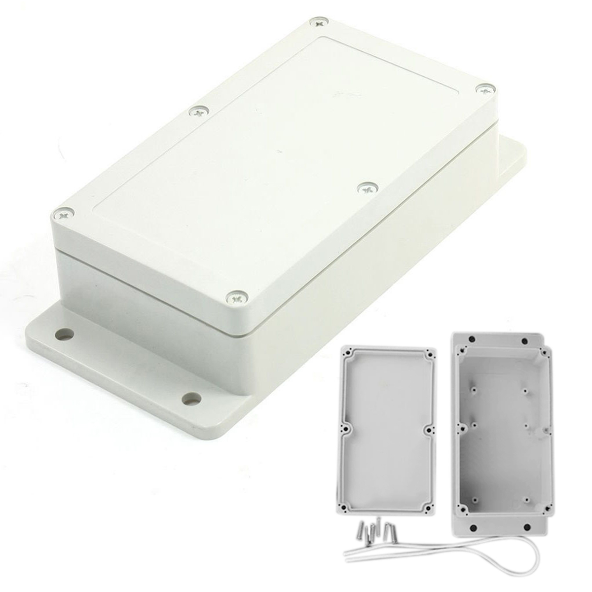 Mayitr Waterproof Enclosure Power Junction Box White Plastic Electronic Project Enclosure Case 158x90x46mm white waterproof plastic enclosure box electric power junction case 158mmx90mmx46mm with 6pcs screws