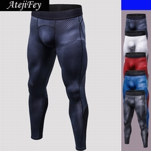 AtejiFey New Gym Male Trousers Men Skinny Print yoga Long Pant Compression Running leggings Tight Fitness Sports Jogging pants men letter print jogger sports pants new 2018 male leisure fitness running skinny long trousers mens striped pencil pants