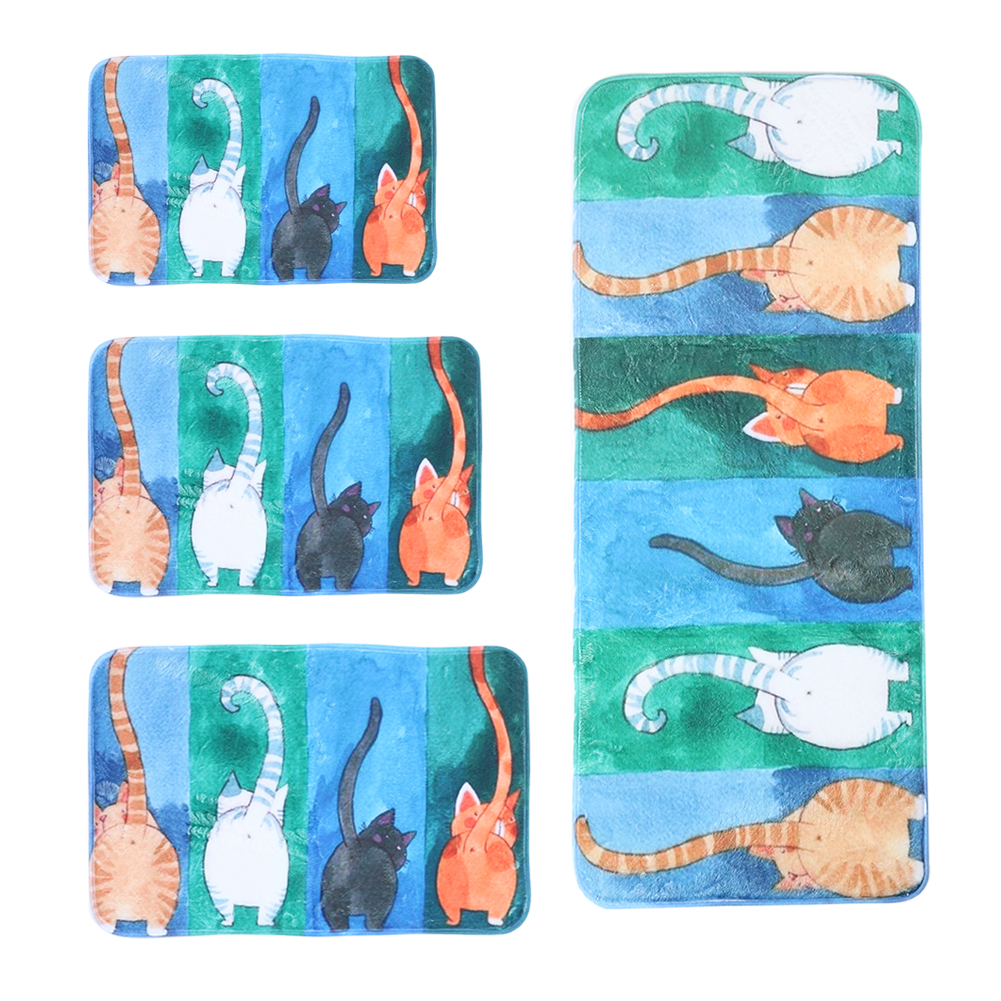 Hot Welcome Mat Animal Cute Cat Doormats Bathroom Kitchen Carpet Home Floor Mats for Living Room