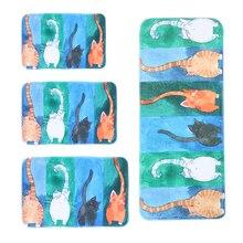 Alfombra de bienvenida caliente animal lindo gato carpet felpudos baño cocina hogar tapetes de sala de estar alfombra antideslizante tapete alfombras