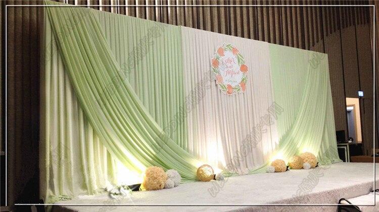 3m6m whitelight green backdrop wedding decoration supplies 3m6m whitelight green backdrop wedding decoration supplies wholesale party backdrop for stage decoration stage curtain in party backdrops from home junglespirit Images