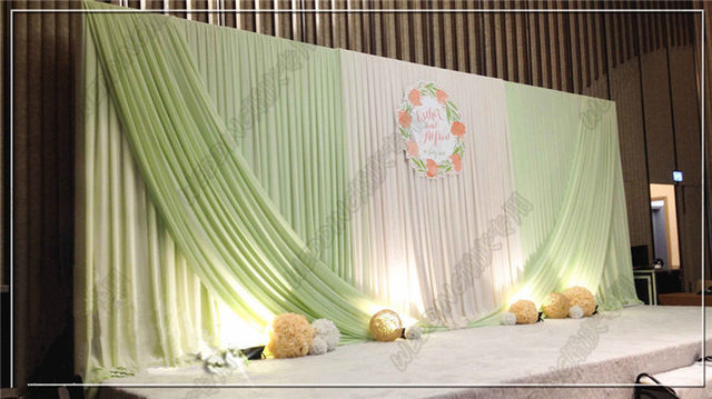 Online shop 3m6m whitelight green backdrop wedding decoration 3m6m whitelight green backdrop wedding decoration supplies wholesale party backdrop for stage decoration stage curtain junglespirit Image collections