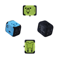 New Universal Travel Adapter Electric Plugs Sockets Converter US AU UK EU With Dual USB Charging