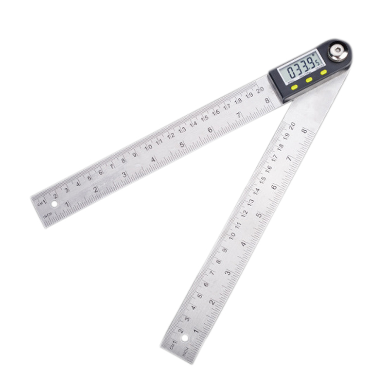 200mm Digital Protractor Inclinometer Goniometer Level Measuring Tool Electronic Angle Gauge Stainless Steel Angle Ruler 2 in 1 200mm 300mm stainless steel digital angle ruler protractor level measuring tool electronic metal digital straight rulers