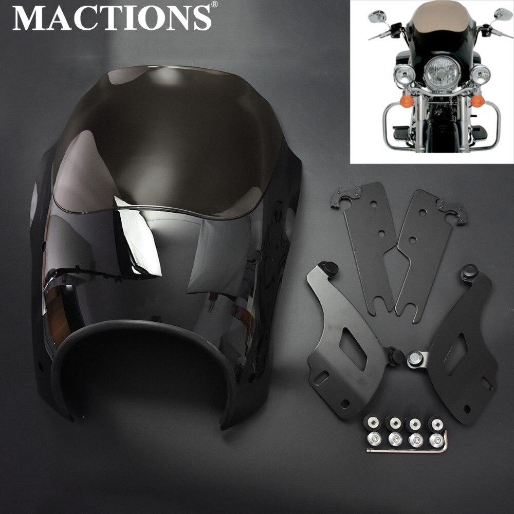 Аксессуары для мотоциклов лобового оттенки фара обтекатель дыма с креплением комплект для Harley Touring Road King пользовательские