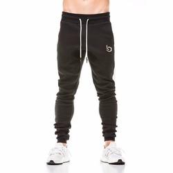 2018 جديد الربيع بنطال رياضي الرجال القطن خليط Sweatpants تركيبها العرق السراويل النشطة بناطيل كاجوال المسار بانت