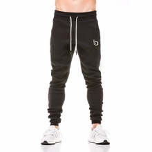2018 New Spring Jogger Pants Men Cotton Patchwork Sweatpants