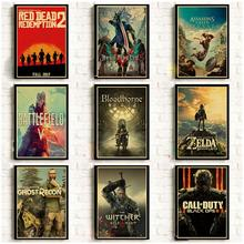 Classic Game Retro Poster Vinatge Wall Decoration Good Quality Printed Wall Painting Home Room Art Wall Posters(China)