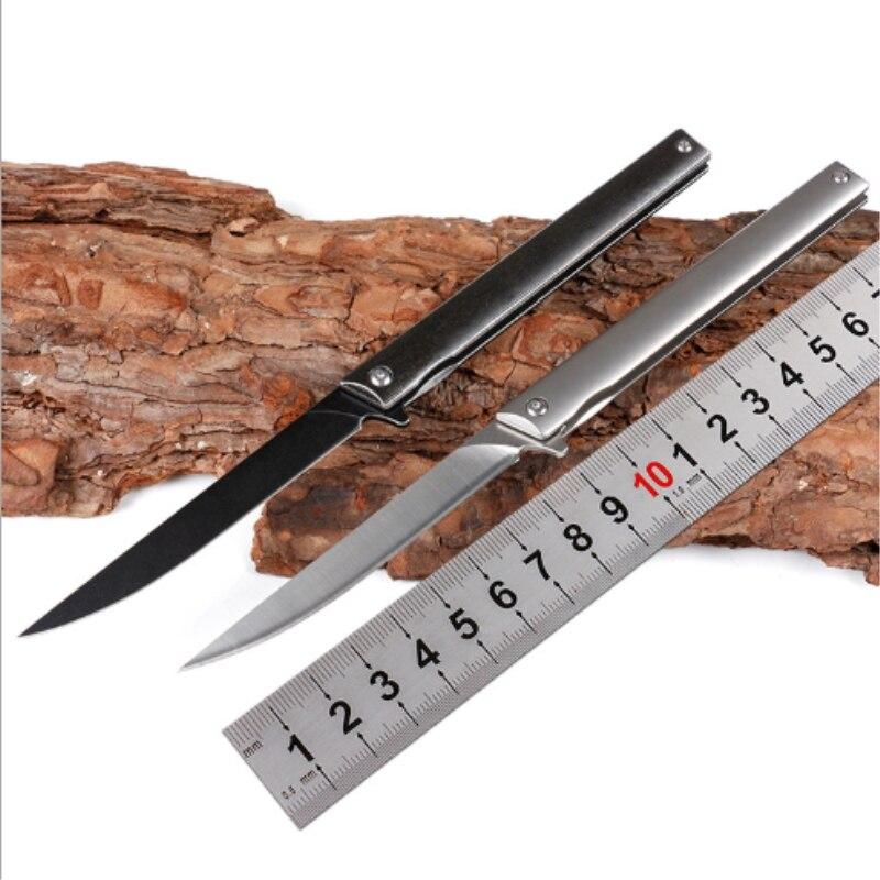 Magic Pen folding knife m390 blade titanium handle pocket survival tactical knives flipper small rescue camp