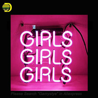 Beer Neon Sign Pink Girls With Clear Plastic Board Neon Signs Glass Tubes Neon Bulbs Signboard