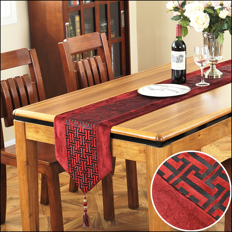Chinese Dining Table Runner Fashion Bronzing Table Runners