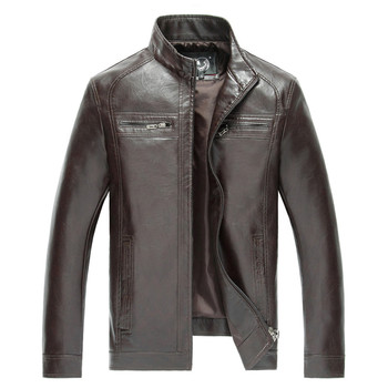 High Quality New Style Brand Luxury Fashion Men's Leather Jacket 5XL Business Casual Haining Leather Jacket Men Coats Jaquetas