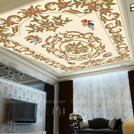8D/5D/3d ceiling wall murals wallpaper for Ceiling flower angel Papel Photo mural wallpaper 3d wall photo Mural Wall paper shinehome black white cartoon car frames photo wallpaper 3d for kids room roll livingroom background murals rolls wall paper