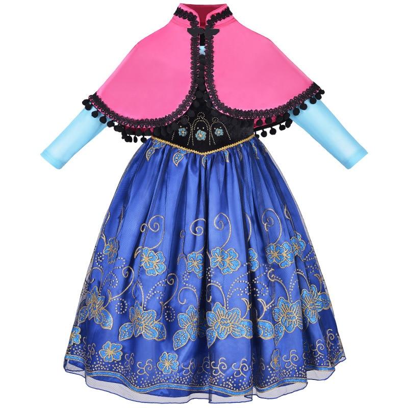 все цены на Frozen Dresses Princess Anna Dress for Girls Wedding Birthday Party Clothes Frozen Elsa Anna Cosplay Costumes Elza Elsa Dress