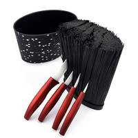 Oval Knife Block Hot selling Plastic Knife Holder with Black Nylon Insert Kitchen Knife Stand Tool Holder Knife Storage