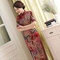 Vintage Dress Chinese Traditional Cheongsam Long Evening Dresses Tavas Abiye Half Sleeve Women Qipao Vestidos Oriental S-3XL
