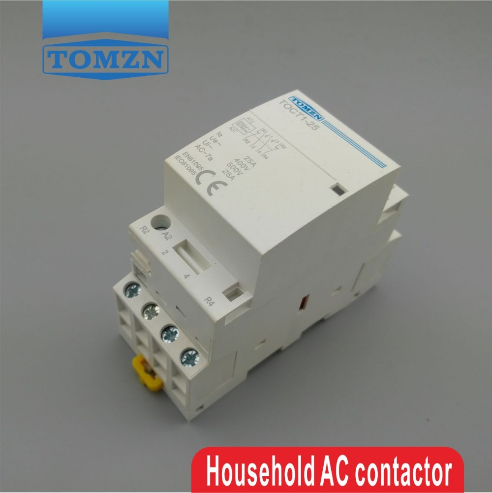 4 Pole Contactor 2 No 2nc Wiring Diagram Fuse Box Contactors And Protection Relays Schneider Electric On Toct1 4p 25a 2no 220v 230v 50 60hz Din Rail Household Ac Modular