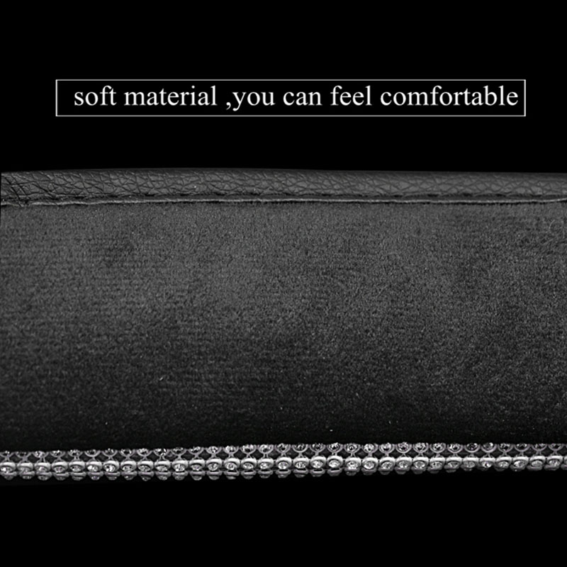 Trunk Car Shoulder Seat Belt Shoulder Pad Cover Cushion Bling Car Styling For Jeep Rhinestone Interior For Car Airplane image