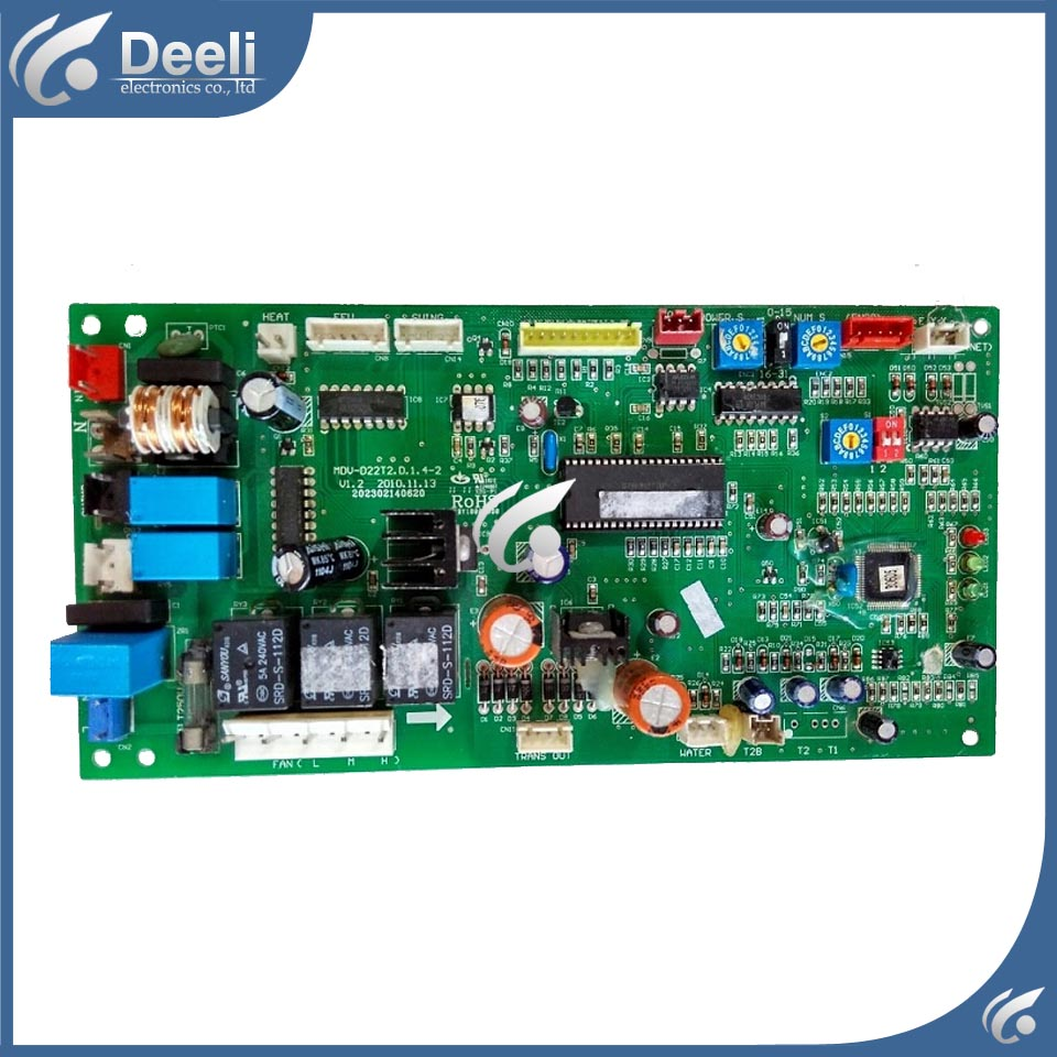 95% new  good working for Midea air conditioning Computer board MDV-D22T2.D.1.4-1 MDV-D22T2 board 95% new good working for midea air conditioning display board remote control receiver board kfr 26gw bpy r d 3 1 1