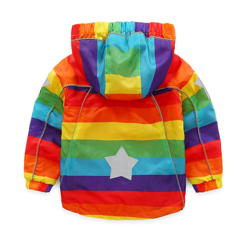 c708269b01cb Mudkingdom Boys Girls Bomber Jackets Kids Rainbow Colorful Asymmetrica