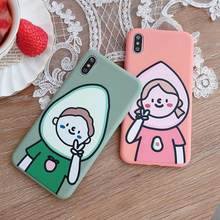 VR VAVA Soft TPU Funny Cases Cute Cover For iPhone 7 8 Plus X XS XR Xs Max Couples Matte 6s Case