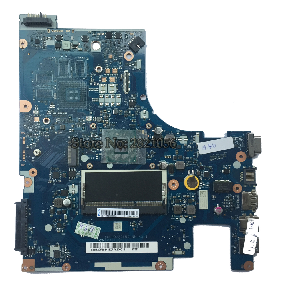 NOKOTION  Mainboard For Lenovo G50-30 Laptop Motherboard NM-A311 With N2830 CPU DDR3 100% Tested nokotion pt10an dsc mb rev 2 1 laptop motherboard for toshiba satellite c50 c50d em2100 cpu amd 216 0841000 ddr3 mainboard