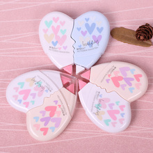 2PCS/Pair Kawaii Love Heart Lovers Romantic Style Corrections Tape to Modify the Wrong Supplies Office Stationery