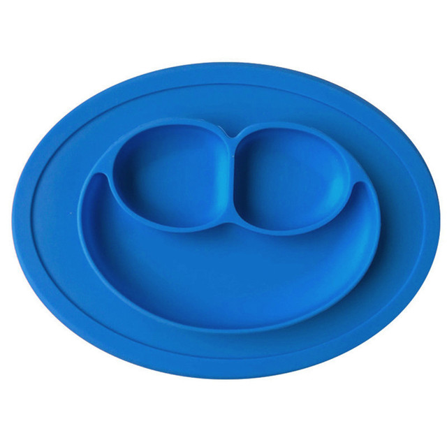 Three-Section Silicone Baby Feeding Plate