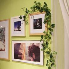 2m 2.5m Artificial Green Boston Ivy Malus Spectabilis Vine Leaf Fake Garland Plant Foliage Home Wedding Decoration