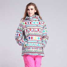 Free shipping waterproof ski suits women ski jacket warm winter outdoor warm woman snowboarding jackets and