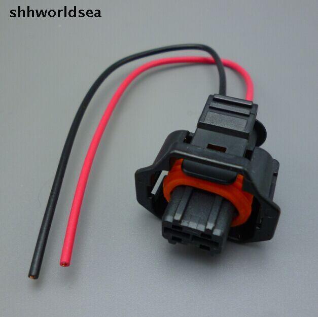 Shhworldsea 15 шт. 2 Pin автомобилей Водонепроницаемый разъем для общая топливораспределительная рампа дизельной форсунки плагин кривошипно датчик вставлен гнездо