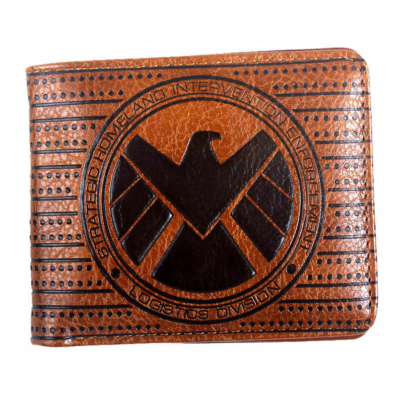 vintage wallet male marvel comics  Captain America DRAGON BALL Z overwatch Stitch purse wallet for credit cards Coin Pocket